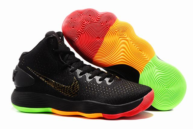 Nike KD 10 Shoes Black Rainbow
