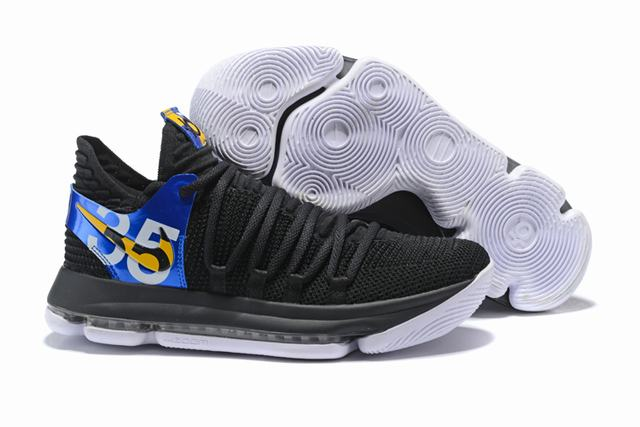 Nike KD 10 Shoes Black Royal Blue