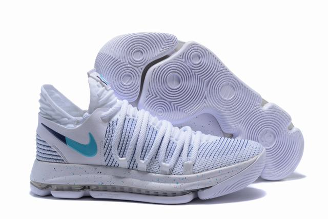 Nike KD 10 Shoes White Blue