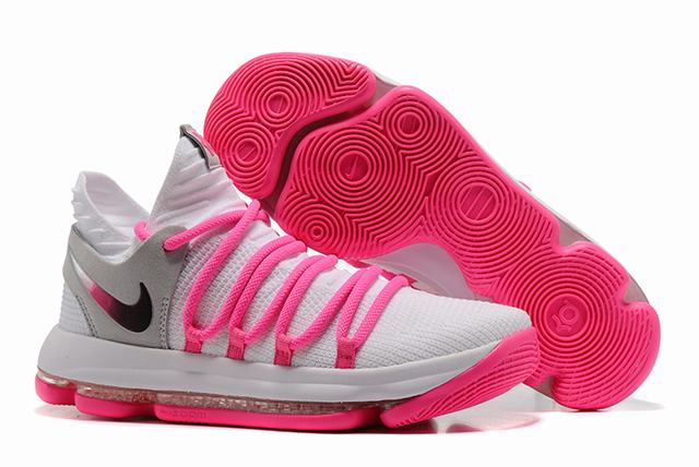 Nike KD 10 Shoes White Cherry Red
