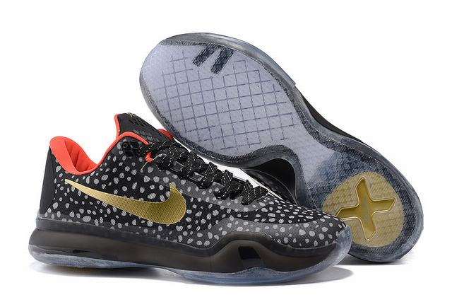 Kobe 10 Shoes Low Black Mamba Gold