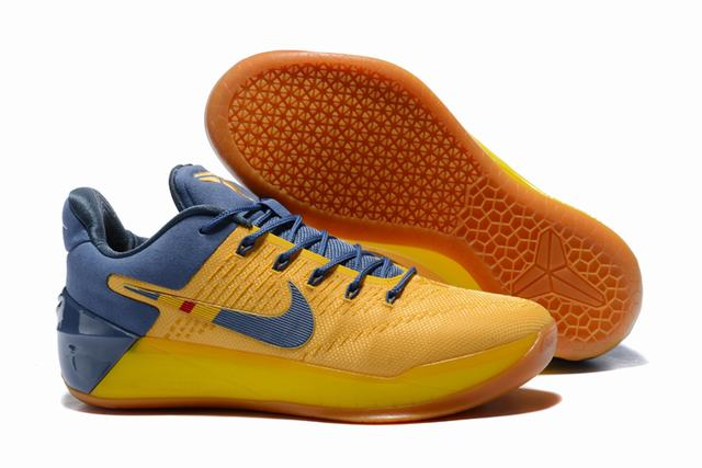Nike Kobe AD 12 Air Cushion Shoes Bruce Lee Yellow Blue