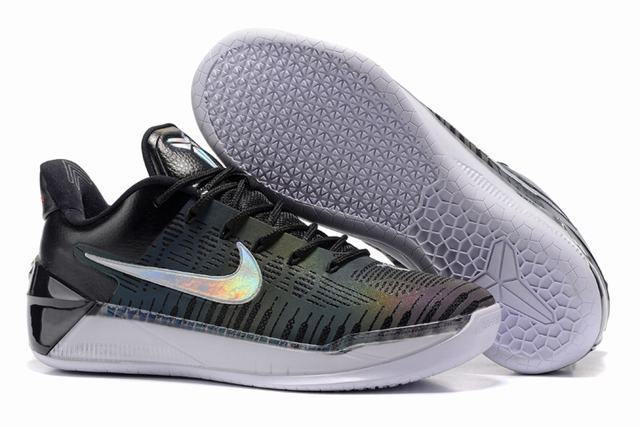 Nike Kobe AD 12 Air Cushion Shoes Chameleon Black White Silver Colors