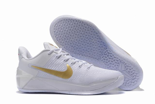 Nike Kobe AD 12 Air Cushion Shoes Christmas White Gold