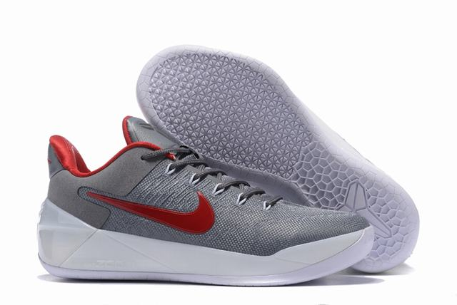 Nike Kobe AD 12 Air Cushion Shoes Grey Red