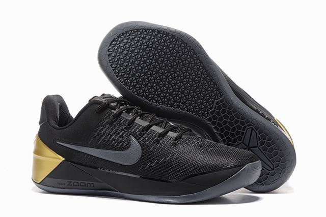 Nike Kobe AD 12 Air Cushion Shoes Special Edition Black Grey Gold