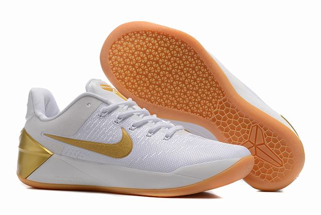 Nike Kobe AD 12 Air Cushion Shoes White Gold-logo
