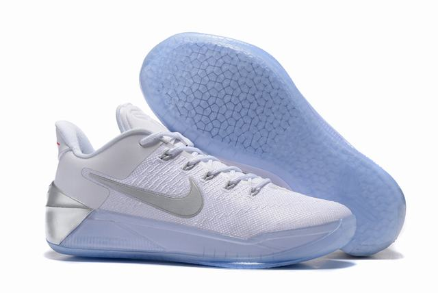 Nike Kobe AD 12 Air Cushion Shoes White Grey-logo