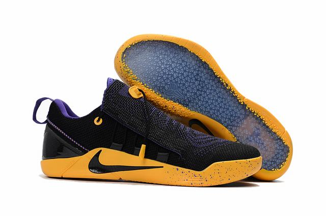 Nike Kobe AD 12 Shoes Woven Surface Black Purple Yellow
