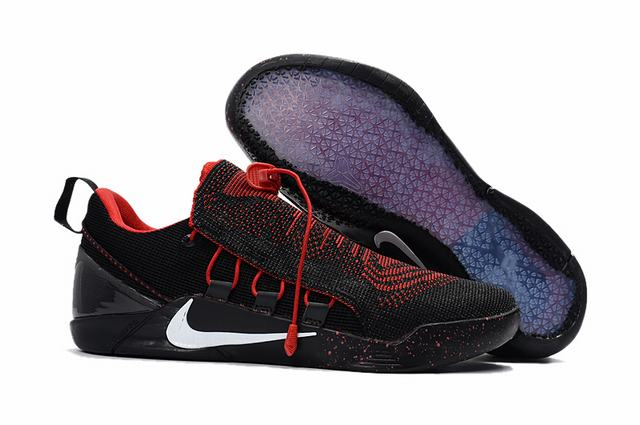 Nike Kobe AD 12 Shoes Woven Surface Black Red