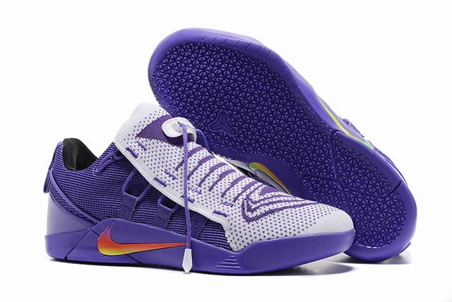 Nike Kobe AD 12 Shoes Woven Surface White Purple
