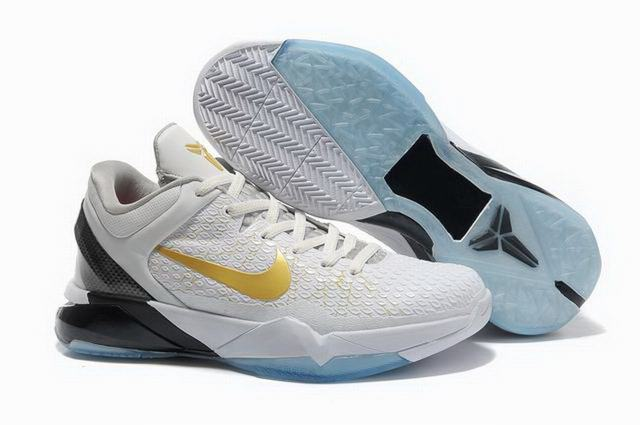Kobe 7 Shoes White Gold