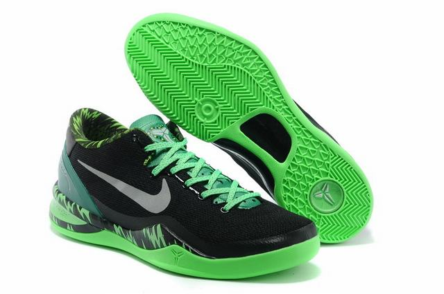 Kobe 8 Shoes Black Grass Green