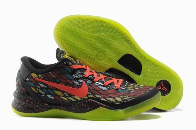 Kobe 8 Shoes Christmas Black Orange