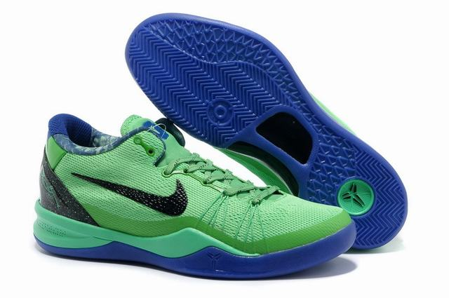 Kobe 8 Shoes Green Black Blue