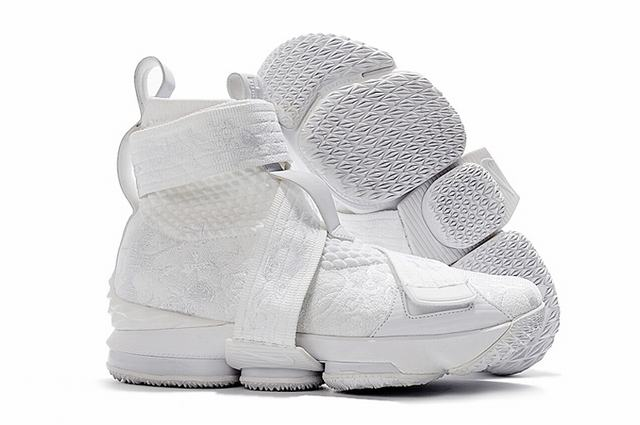 Nike Lebron James 15 Air Cushion Shoes High limited Edition Flowes and Plants White
