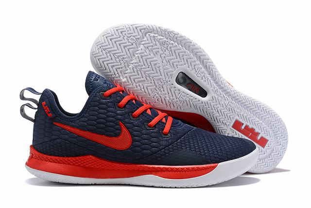 Nike Lebron James Witness 3 Shoes Dark Blue Red