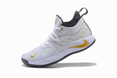 Nike PG 2 white and yellow