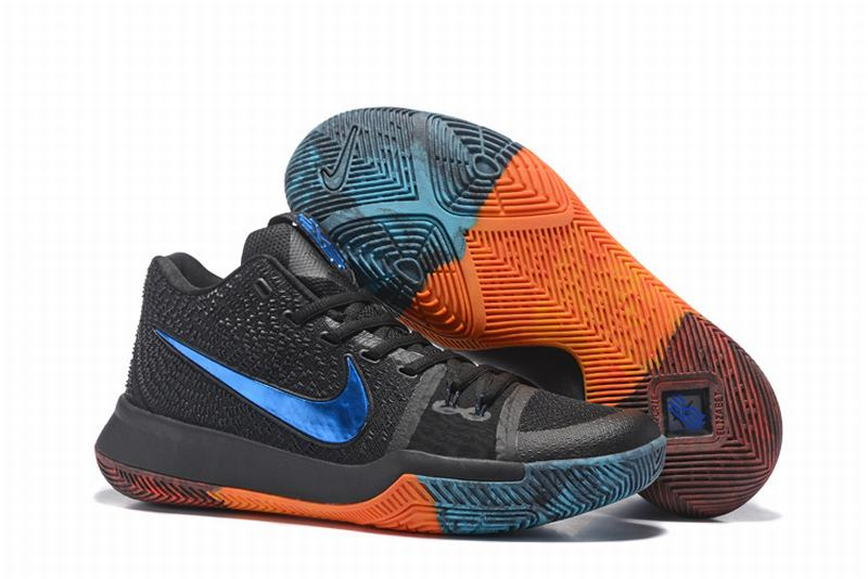 New Nike Kyire 3 Black Green Orange