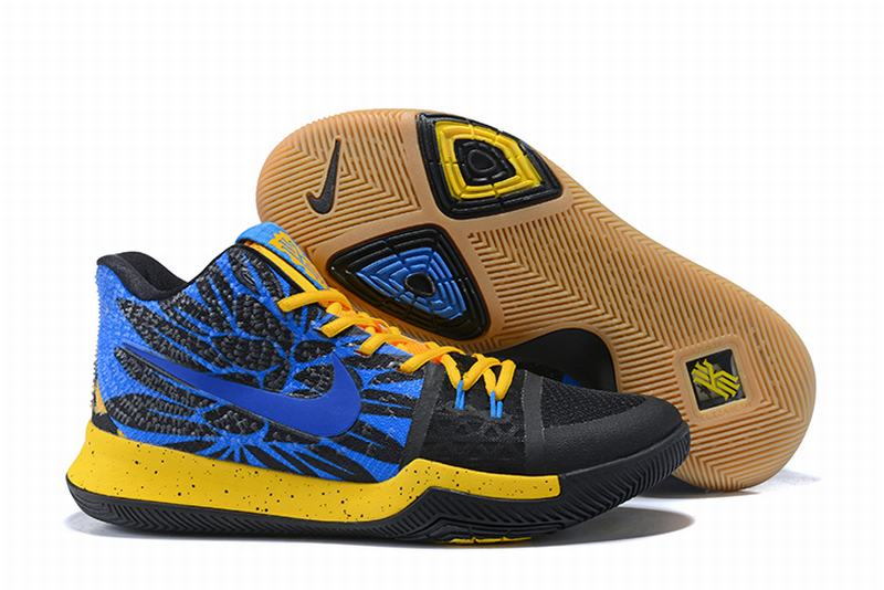 New Nike Kyire 3 Blue Yellow Black