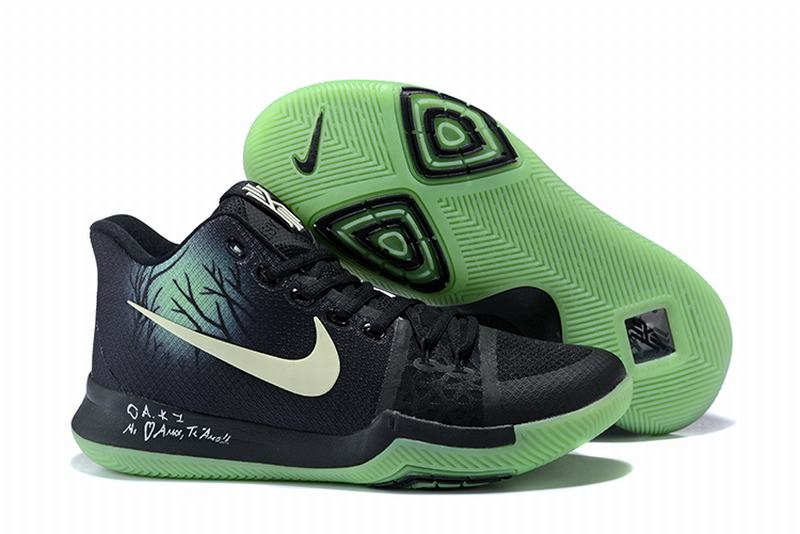 New Nike Kyire 3 Fear Black Green