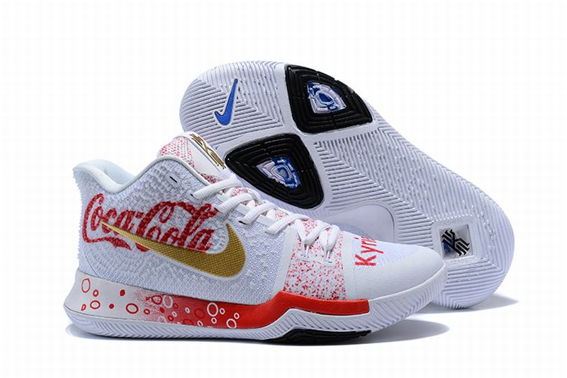 New Nike Kyire 3 Pepsi-cola White