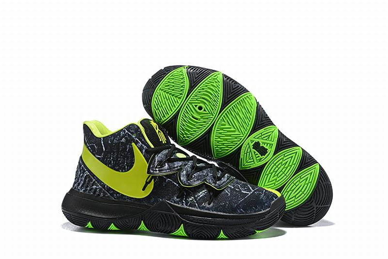New Nike Kyire 5 Black Silver Green